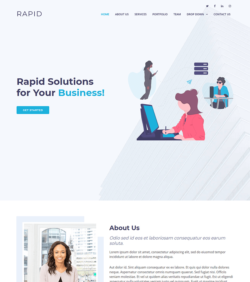 Rapid – Multipurpose Bootstrap Business Template